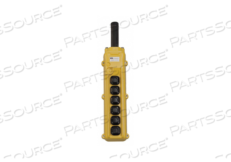 PENDANT STATION 6 PUSH BUTTON NO YELLOW by KH Industries