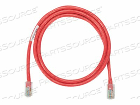 PANDUIT NETKEY - PATCH CABLE - RJ-45 (M) TO RJ-45 (M) - 45 FT - UTP - CAT 5E - IEEE 802.3AF/IEEE 802.3AT/IEEE 802.3BT - SNAGLESS, STRANDED - RED by Panduit