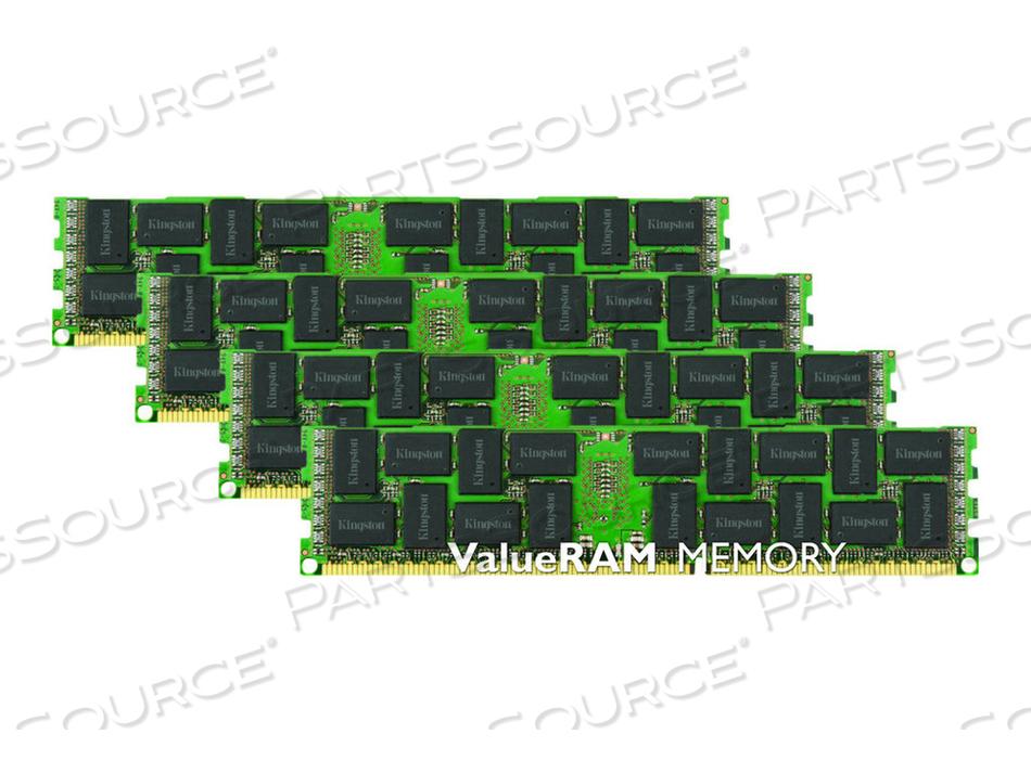 KINGSTON VALUERAM - DDR3 - 16 GB : 4 X 4 GB - DIMM 240-PIN - 1600 MHZ / PC3-12800 - CL11 - 1.5 V - REGISTERED - ECC