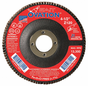ARBOR MOUNT FLAP DISC 4-1/2IN 40 COARSE by United Abrasives-Sait