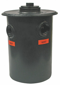 DILUTION TANK 55 GALLONS 3 IN FIP POLY by Orion