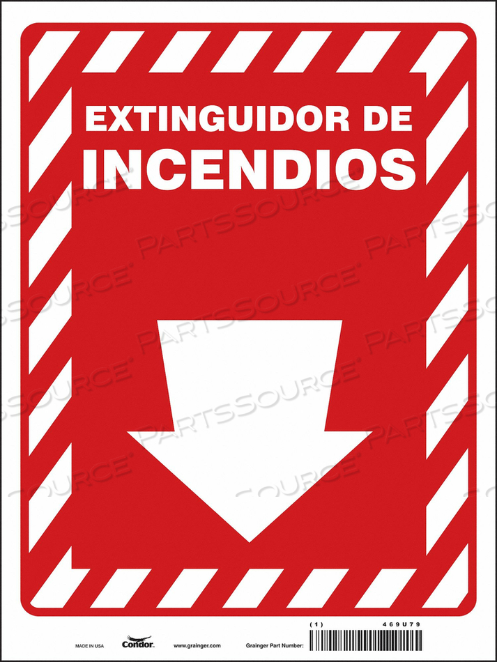SAFETY SIGN 9 W 12 H 0.004 THICKNESS by Condor