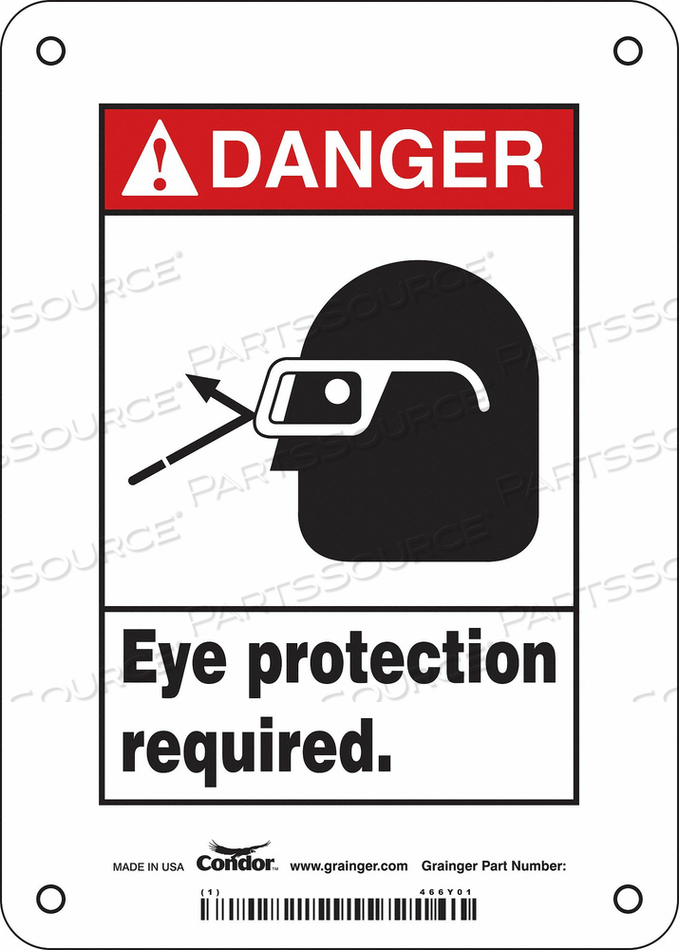 SAFETY SIGN 5 W 7 H 0.055 THICKNESS by Condor
