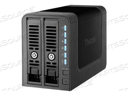 THECUS TECHNOLOGY N2350 - NAS SERVER - 2 BAYS - SATA 6GB/S / SATA 3GB/S - RAID 0, 1, 5, 6, 10, JBOD - RAM 1 GB - GIGABIT ETHERNET - ISCSI