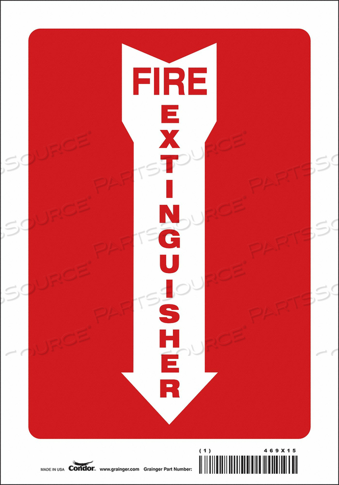 J6987 SAFETY SIGN 7 W 10 H 0.004 THICKNESS by Condor