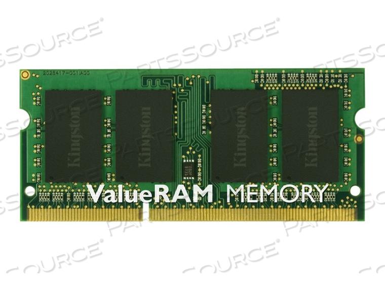 KINGSTON VALUERAM - DDR3 - 8 GB - SO-DIMM 204-PIN - 1600 MHZ / PC3-12800 - CL11 - 1.5 V - UNBUFFERED - NON-ECC by Kingston Technology