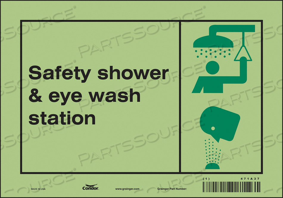 SAFETY SIGN 10 W X 7 H 0.010 THICK by Condor