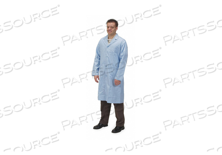 COLLARED LAB COAT MALE XL LIGHT BLUE by Condor