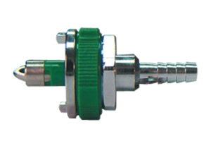 ADAPTER, 1/4 IN HOSE BARB, GREEN, OXYGEN by Amvex (Ohio Medical, LLC)