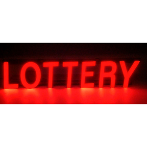 """MYSTIGLO LOTTERY LED SIGN - 25""""W X 5""""H by CM Global"""