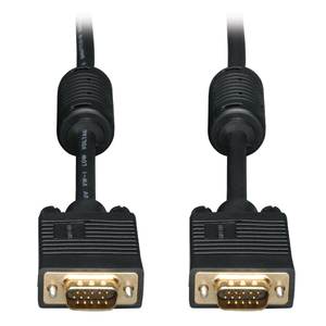 25FT HD15 MALE/MALE VGA HIGH-RESOLUTION EXTENSION RGB COAXIAL MONITOR CABLE - BLACK by Tripp Lite