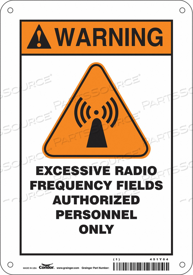 SIGN RADIOFREQUENCY/MICROWAVE 10 H by Condor