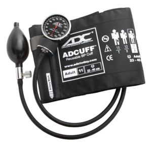 ANEROID SPHYGMOMANOMETER, BLACK, ADULT by American Diagnostic Corporation (ADC)