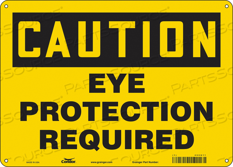 K0276 SAFETY SIGN 14 W 10 H 0.060 THICKNESS by Condor