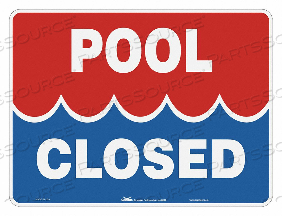 SAFETY POOL RULES SIGN 18 H 24 W by Condor