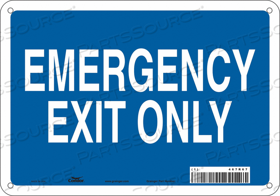 SAFETY SIGN 7 X10 PLASTIC by Condor