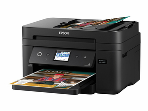 EPSON WORKFORCE WF-2860 - MULTIFUNCTION PRINTER - COLOR - INK-JET - LEGAL (8.5 IN X 14 IN) (ORIGINAL) - A4/LEGAL (MEDIA) - UP TO 11 PPM (COPYING) - UP TO 14 PPM (PRINTING) - 150 SHEETS - 33.6 KBPS - USB 2.0, LAN, WI-FI(N), NFC by Epson