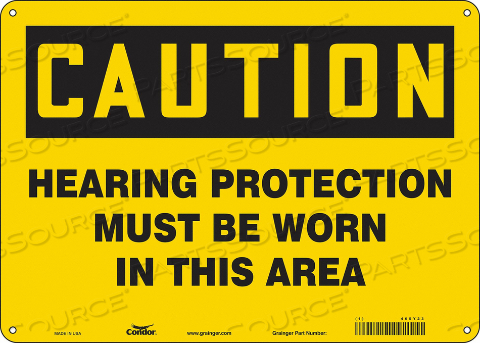 K0282 SAFETY SIGN 14 W 10 H 0.055 THICKNESS by Condor