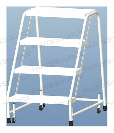 ROLLING LADDER ALUMINUM 38 IN.H by Ballymore