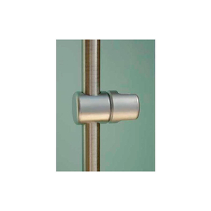"""SINGLE MULTI-POSITIONAL SUPPORT SINGLE FOR 3/8"""" PANELS & 10MM RODS, SATIN CHROME by Nova Display, Inc"""