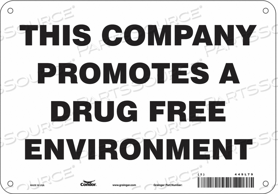 SAFETY SIGN 7 H X 10 W 0.055 THICK by Condor