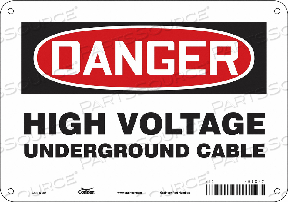 ELECTRICAL SIGN 10 W 7 H 0.032 THICK by Condor
