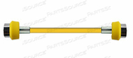 CONDUCTIVE HOSE ASSEMBLY, 1/4 IN OD, AIR, YELLOW, DISS HAND TIGHT CONNECTION, 15 FT by Amvex (Ohio Medical, LLC)