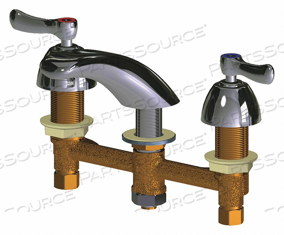 LOW ARC CHROME CHICAGO FAUCETS 404 by Chicago Faucets