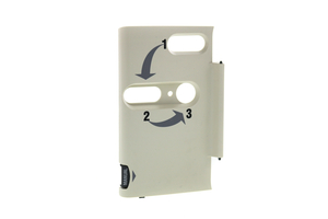 AED FRONT DOOR WITH LATCH LABEL FOR LIFEPAK 20E by Physio-Control
