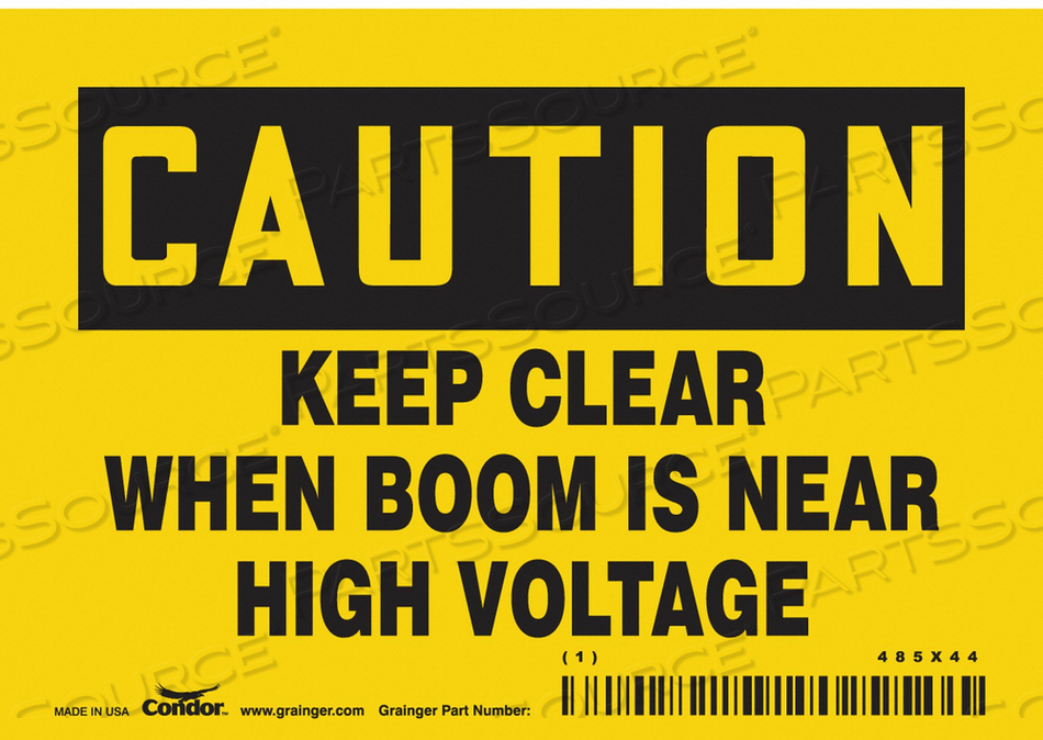 CONSTRUCTION SIGN 5 W 3-1/2 H by Condor
