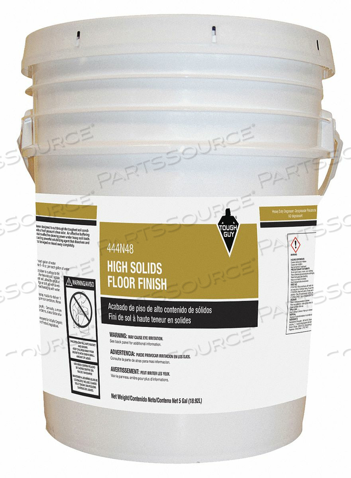 HIGH SOLIDS FLOOR FINISH SIZE 5 GAL. RTU by Tough Guy