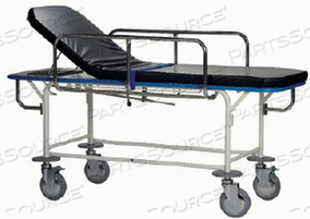 TRANSPORT STRETCHER, FIXED HEIGHT, W/2 COMBINATION SWIVEL LOCK & BRAKE CASTERS