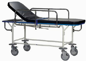 TRANSPORT STRETCHER, FIXED HEIGHT, W/2 COMBINATION SWIVEL LOCK & BRAKE CASTERS by Pedigo Products, Inc.