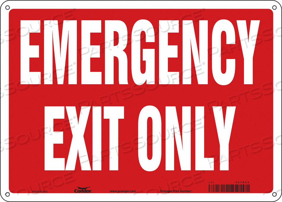 J7039 SAFETY SIGN 10 X14 ALUMINUM by Condor