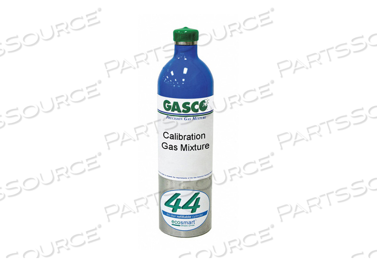CALIBRATION GAS 44L HYDROGEN SULFIDE AIR by Gasco