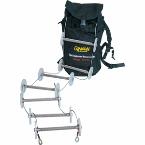 20' RAPID DEPLOYMENT RESCUE LADDER, CLEAR ZINC, OSHA, ALUMINUM/STEEL/POLYESTER/NYLON by Guardian Fall Protection