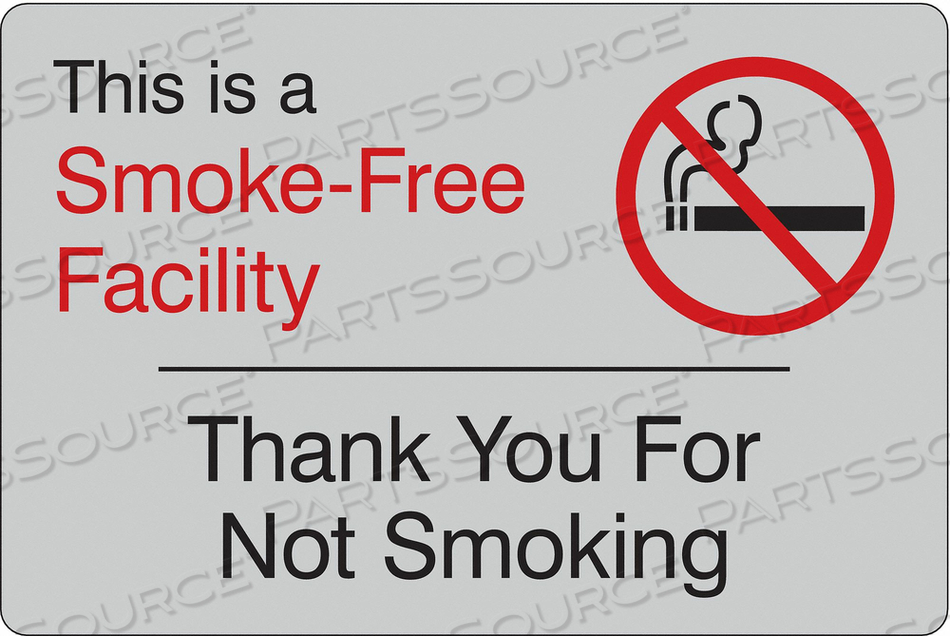 FACILITY SIGN 9 W 6 H 0.135 THICKNESS by Condor