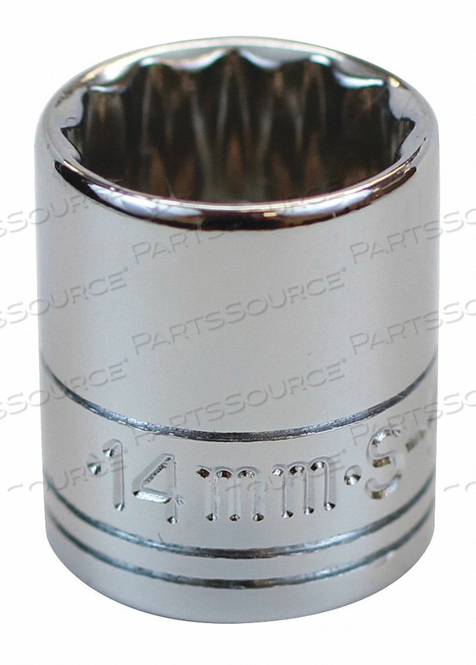 SOCKET 1/4 IN DR 14MM 12 PT. by SK Professional Tools