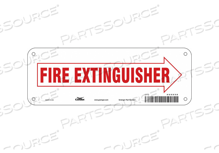 SAFETY SIGN 10 W 3-1/2 H 0.032 THICK by Condor