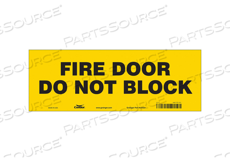 SAFETY SIGN 5 X14 VINYL by Condor