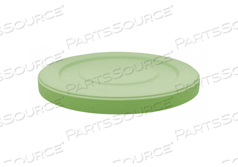 TRASH CAN TOP FLAT SNAP-ON CLOSURE GREEN by Tough Guy