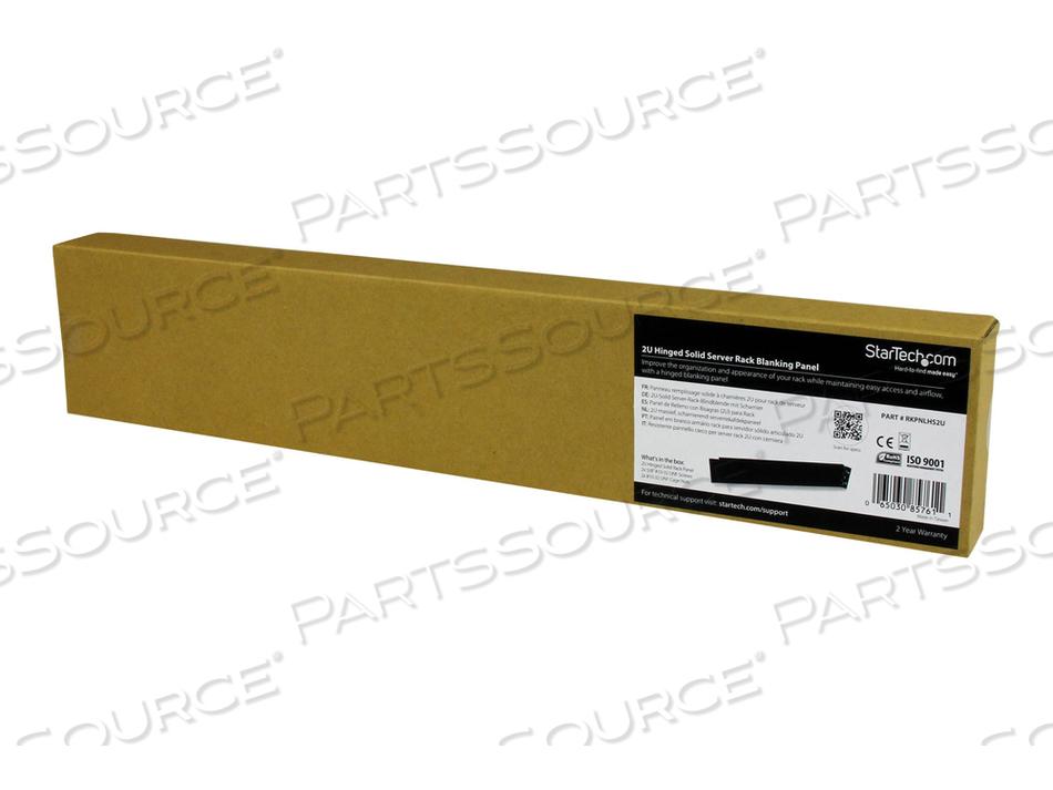 "STARTECH.COM 2U HINGED SOLID BLANK RACK PANEL - BLANK PANEL (FRONT) - BLACK - 2U - 19"" - FOR P/N: RK1219WALHM, RK2536BKF, RK619WALL, RK619WALLGB, RK960CP, RKQMCAB12, RKWOODCAB12 by StarTech.com Ltd."