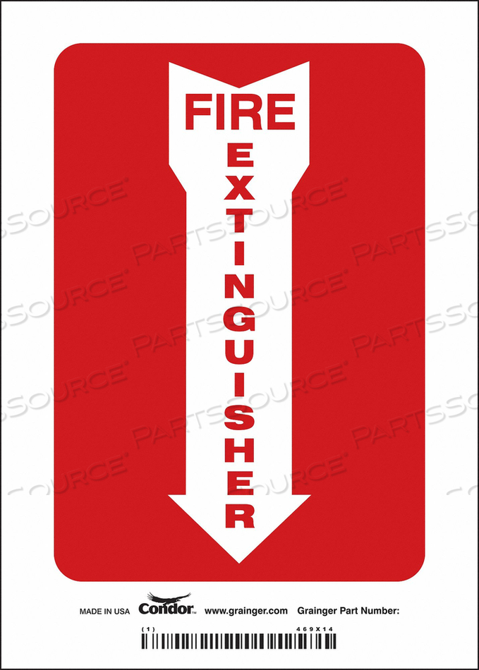 J6987 SAFETY SIGN 5 W 7 H 0.004 THICKNESS by Condor