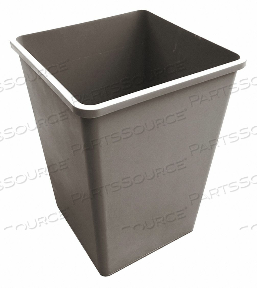 TRASH CAN SQUARE 50 GAL. BEIGE by Tough Guy