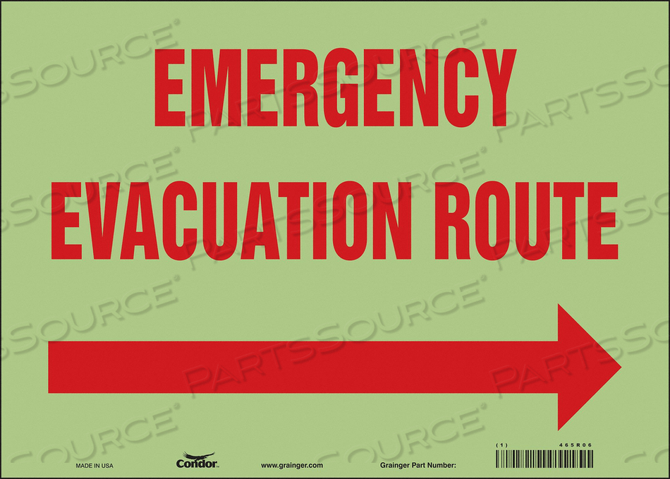 SAFETY SIGN 14 WX10 H 0.010 THICKNESS by Condor