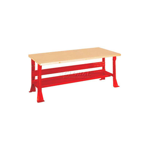 """C-CHANNEL FIXED HEIGHT WORKBENCH - SHOP TOP SQUARE EDGE 60""""W X 30""""D X 31-1/4""""H RED by Equipto"""