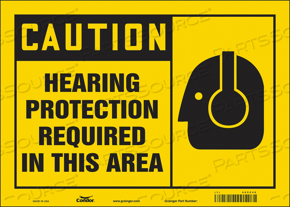 K2004 SAFETY SIGN 14 W 10 H 0.004 THICKNESS by Condor