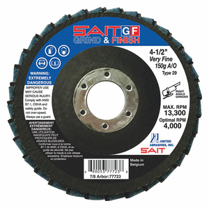 FLAP DISC MED 60 GRIT CERAMIC by United Abrasives-Sait