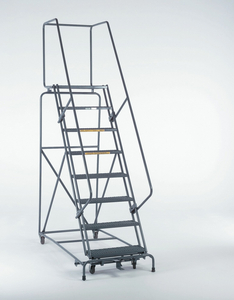 SAFETY ROLLING LADDER STEEL 100 IN.H by Ballymore