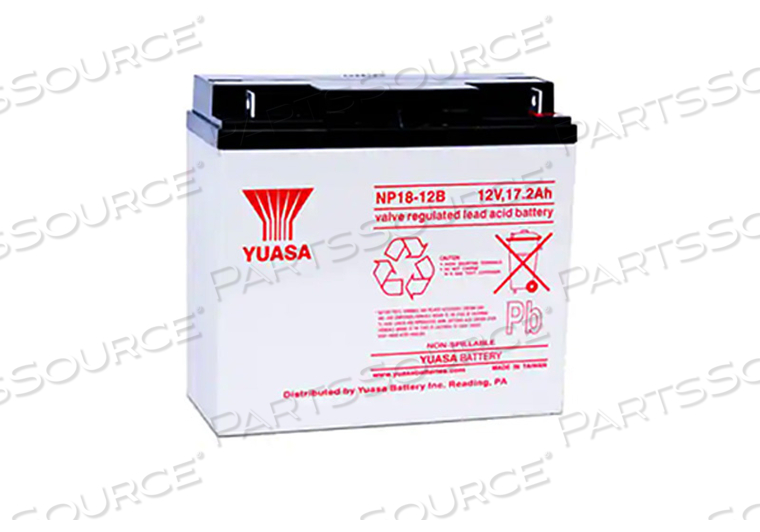 BATTERY, SEALED LEAD ACID, 12V, 18 AH, NUT & BOLT by Yuasa Battery Inc.